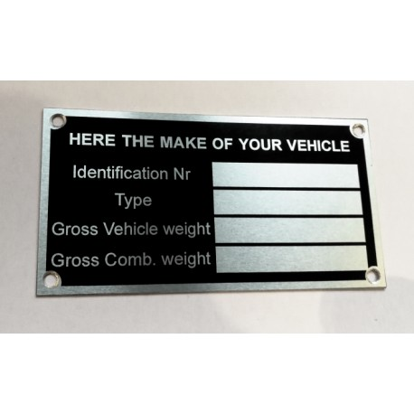 Id Plate for all brands