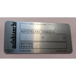 Autobianchi Id plate