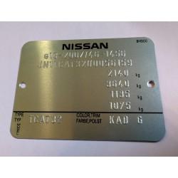 Nissan vin tag