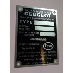 Peugeot body tag