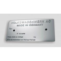 Volkswagen - vw Id plate