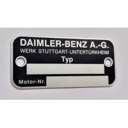 Daimler-Benz id plate
