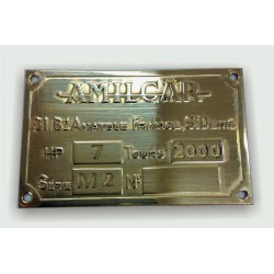 Amilcar Id plate