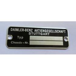 Mercedes-Benz id plate