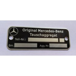 Original Mercedes-Benz id plate