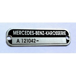 Mercedes-Benz body plate