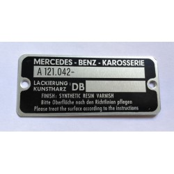 Mercedes body plate