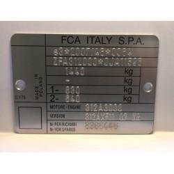 FCA vin tag
