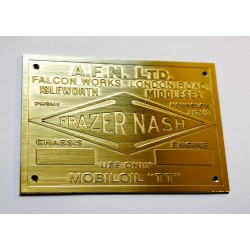Frazer Nash Id plate
