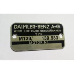 Daimler-Benz motor plate