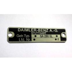 Daimler-Benz type plate