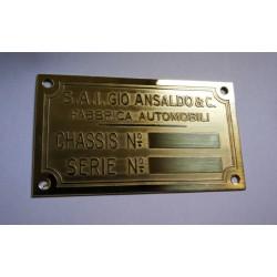 Ansaldo Id plate