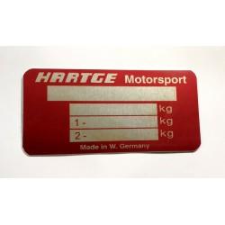 Hartge Id plate
