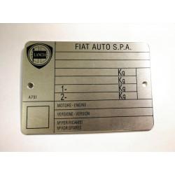 Lancia Fiat SPA vin tag