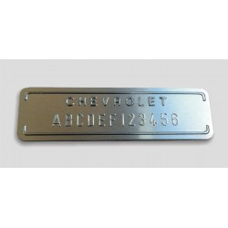 Chevrolet id plate