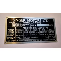 Singer Motors LTD body tag