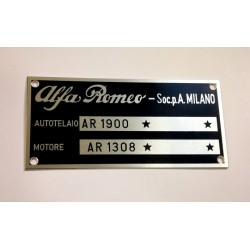 Alfa Romeo vin plate