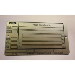 Ford Espana V.I.N.tag