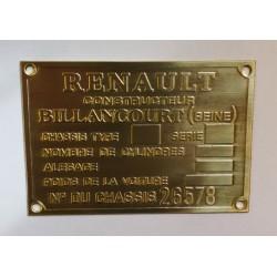 Renault Id plate