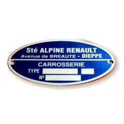 Renault Alpine body plate