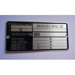 Mercedes Benz AG id plate