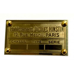 Hinstin Jacques Id plate