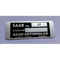 Saab id plate