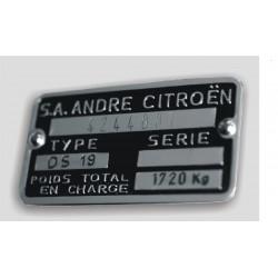 Citroen Id plate