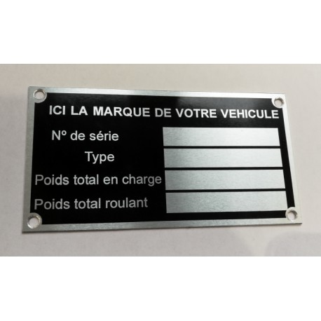 Id Plate for all brands - fr