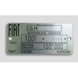 Fiat Id plate