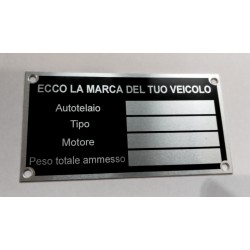 Id Plate for all brands - Italian version
