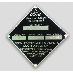 Ford vin tag