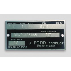 Ford body plate