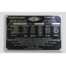 Frazer-Nash vin tag
