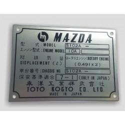 Mazda id plate