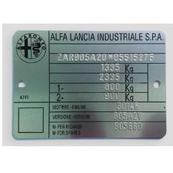 Alfa Romeo - Lancia Id plate