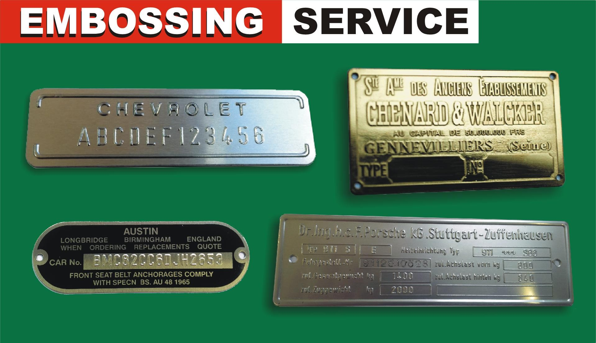 Embossing Service