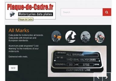 Plaque de cadre pour motos