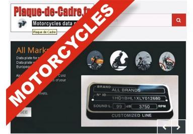 Motorcycle vin / id / frame plate